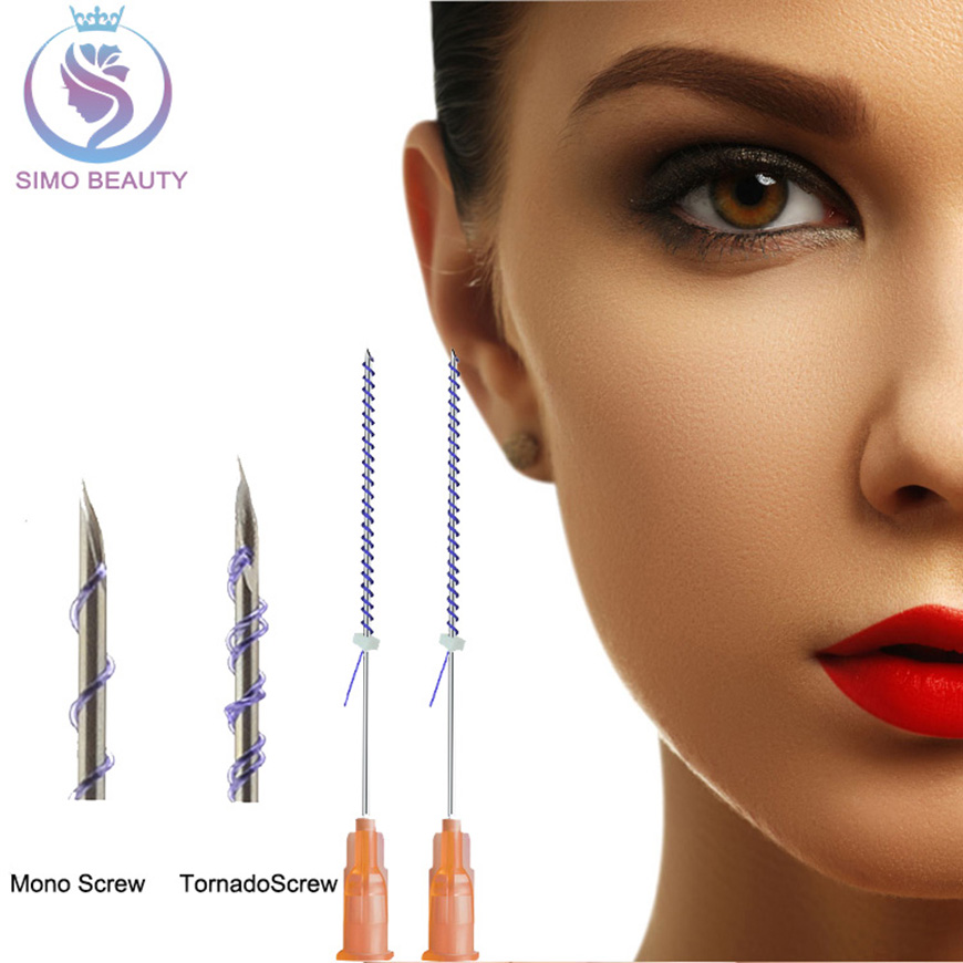 Tornado screw pdo thread facial lift