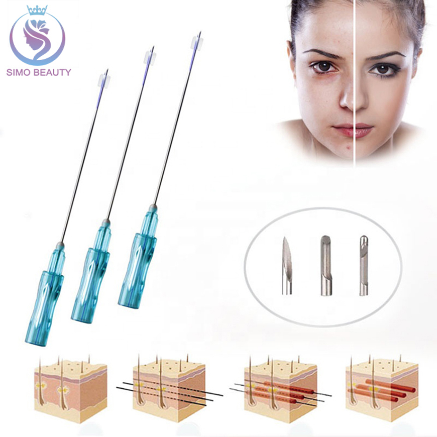 Face lift medical non surgical suture lifting pdo double thread