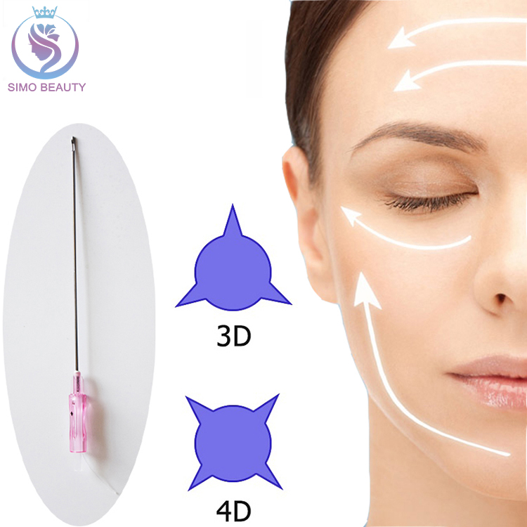 Absorbing sterile surgical suture needle blunt cog pdo threading face lift