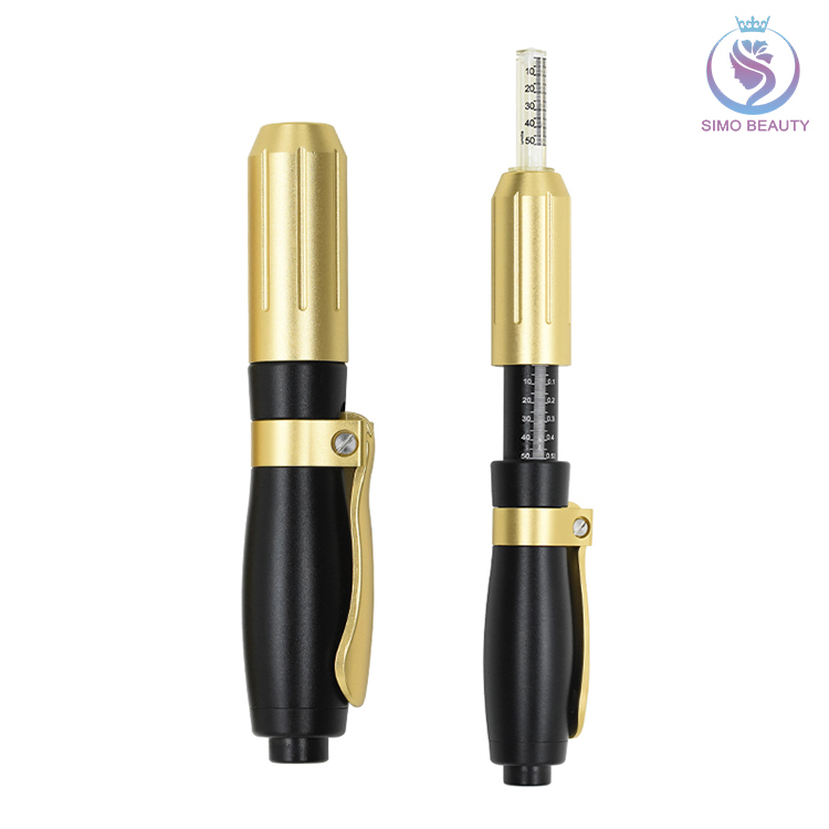 Cross linked hyaluronic acid gel for hyaluronic pen injector