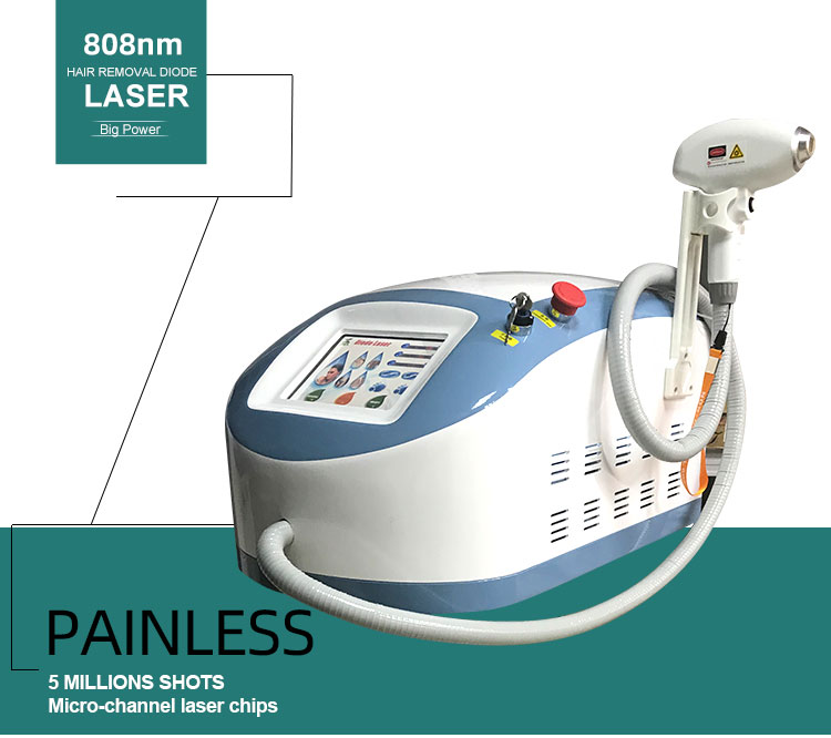 Professional portable multifunctional 3 wavelength 755 808 1064 diode laser hair removal machine