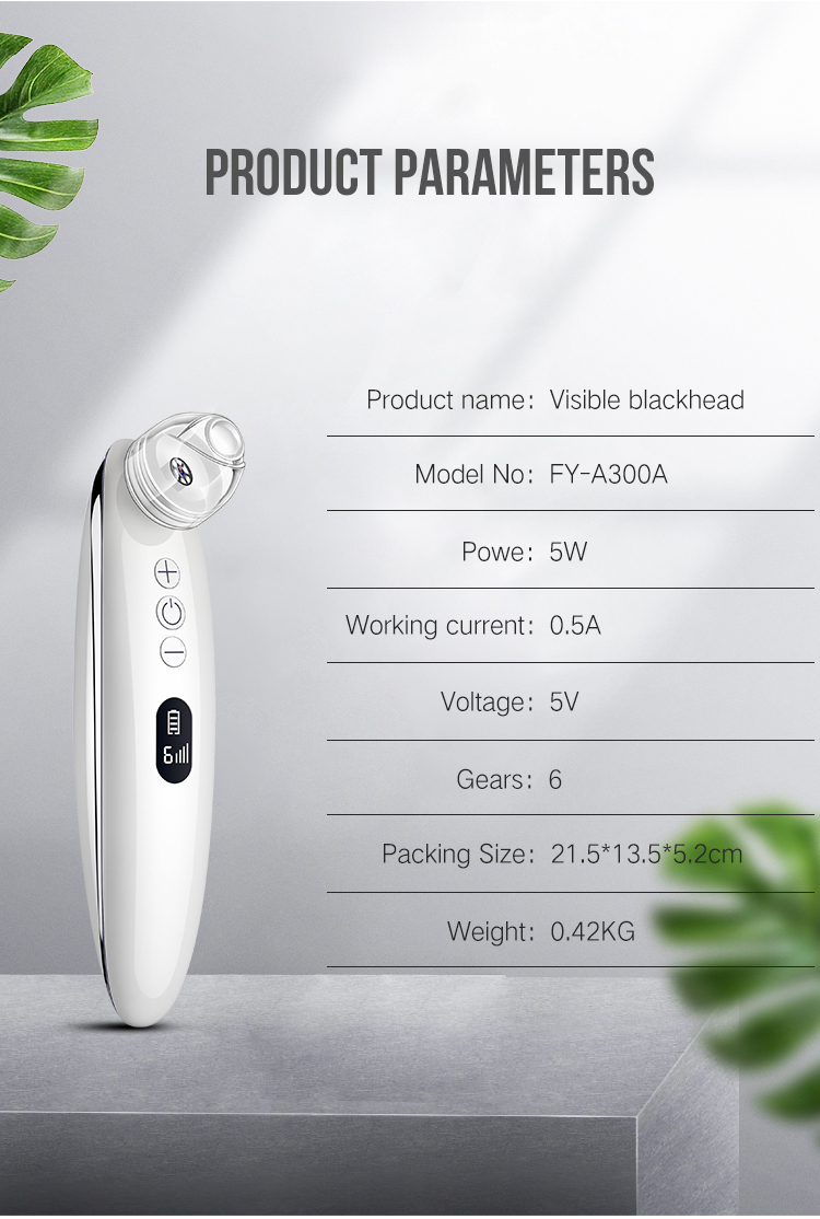 10X HD microscope pore usb charge wifi vacuum electronic suction visual blackhead remover machine with camera