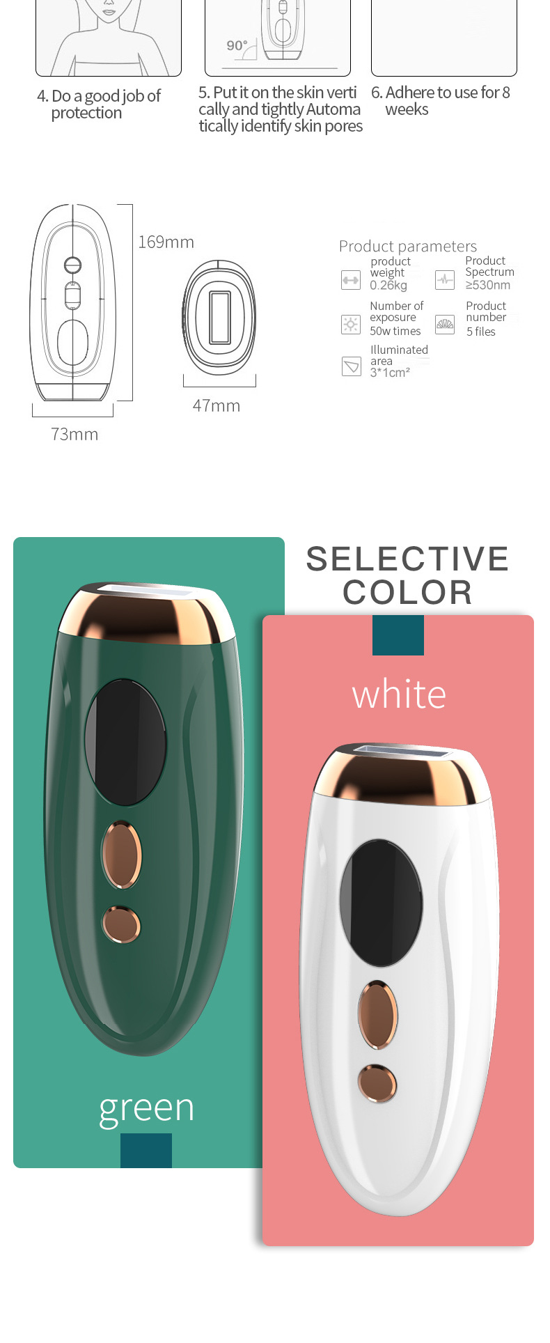 High Quality Home Use Handheld IPL Hair Laser Removal Machine Portable Body Permanently Hair Remover